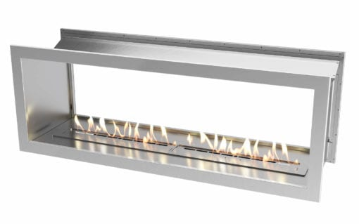 1650 Stainless steel double sided firebox with 1400 slimline bio fuel burner