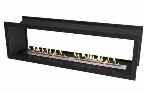 2000 Black double sided firebox with 1400 slimline bio fuel burner