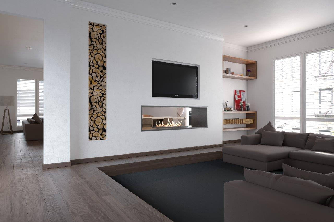 Grand XL Double sided fireplace
