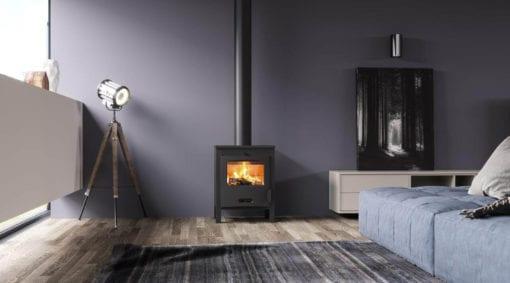 Sagra freestanding wood fireplace