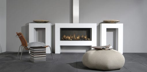 Faber Relaxed Smart Gas Fireplace with logs (1)