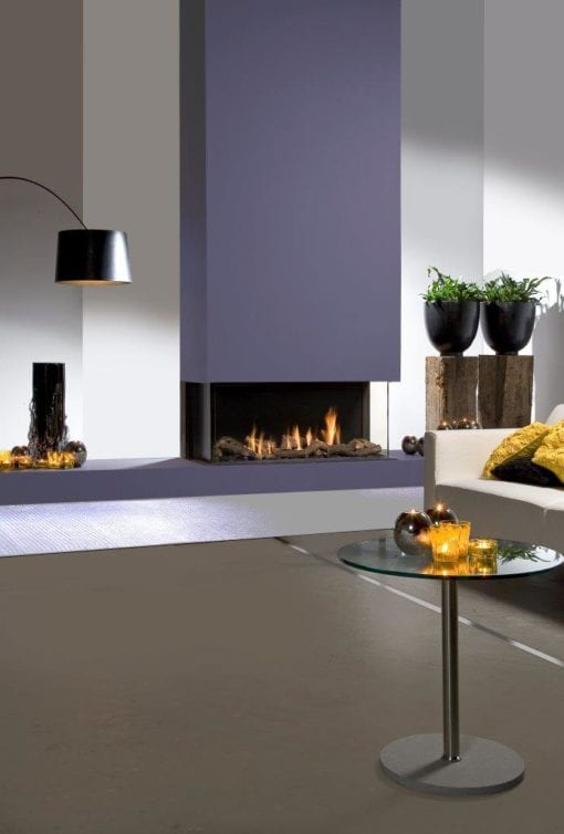 Faber Triple Smart L Gas Fireplace with logs (3)