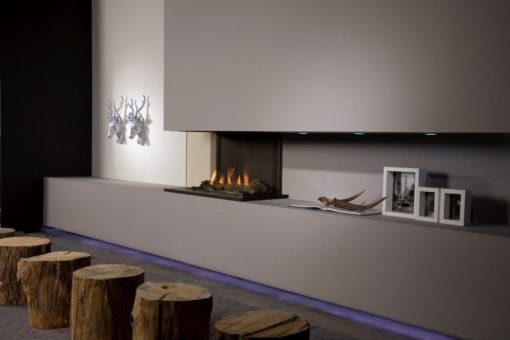 Faber Triple Smart M Gas Fireplace with Logs (4)